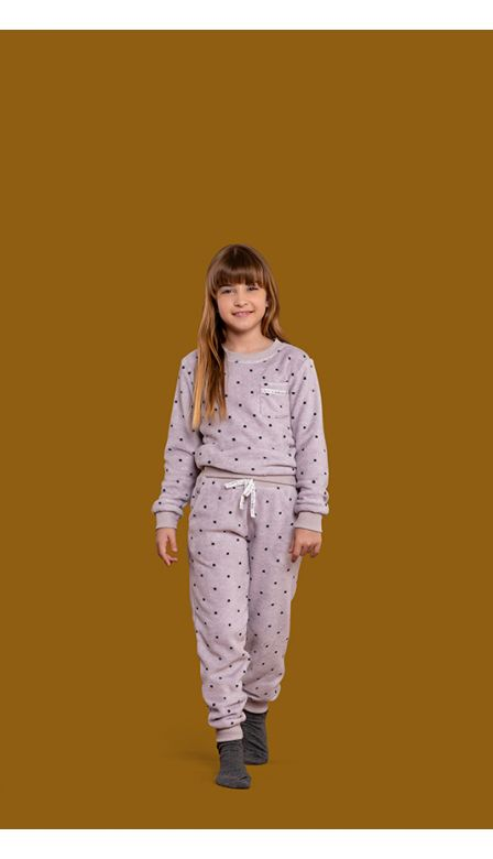 Pijama Fleece Infantil Moonlight