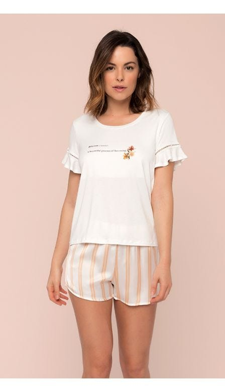 Pijama Curto Floresce