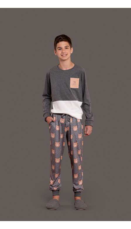 Pijama Masculino Infantil Farm Bear Co.