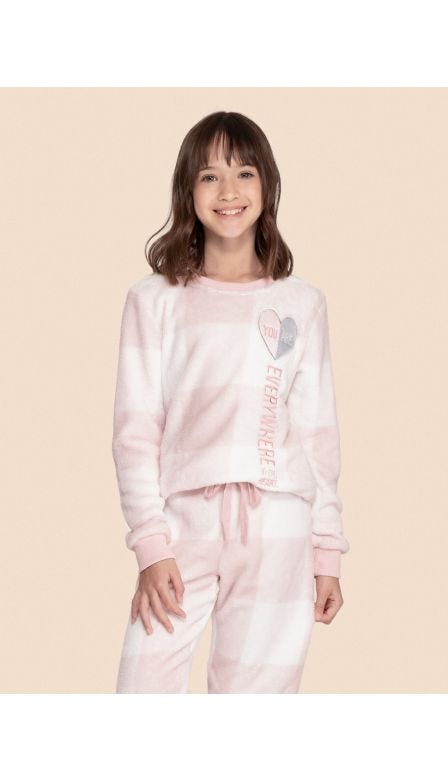 Pijama Fleece Kids My Heart