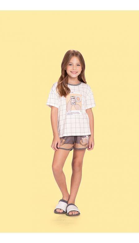 Pijama Curto Infantil Instabear