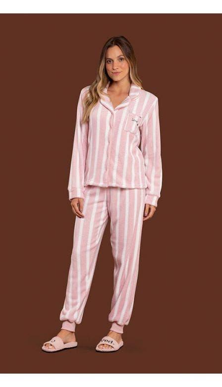 Pijama Aberto Fleece With Love