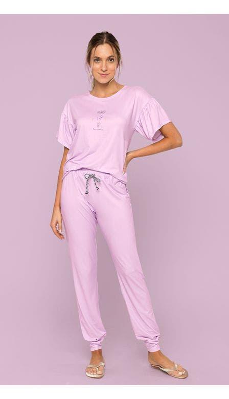 Pijama Alfazema Meu Jardim