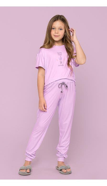 Pijama Kids Alfazema Meu Jardim