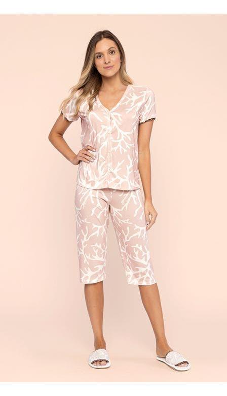 Pijama Estampado Capri Costa Coral