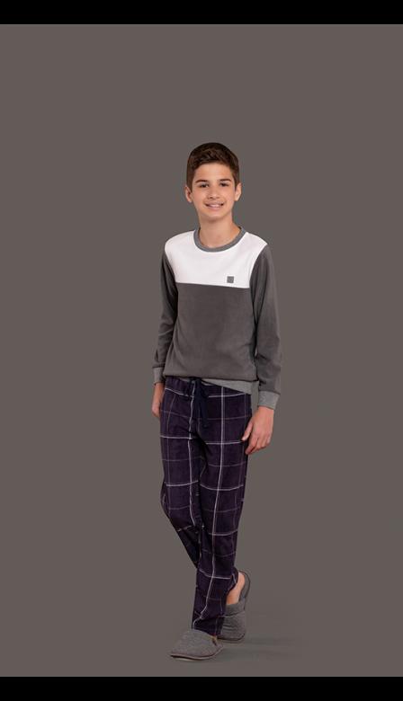 Pijama Masculino Infantil Lattes