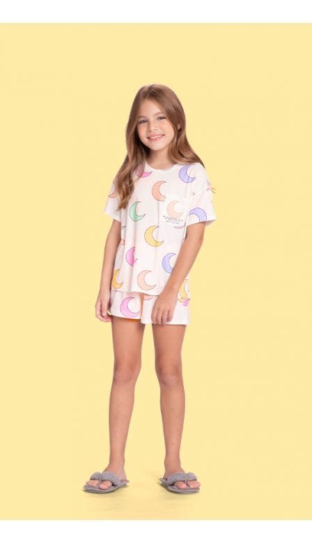 Pijama Curto Infantil Moony
