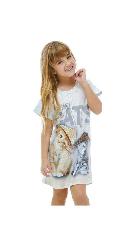 Camisetão Kids Thai Cats
