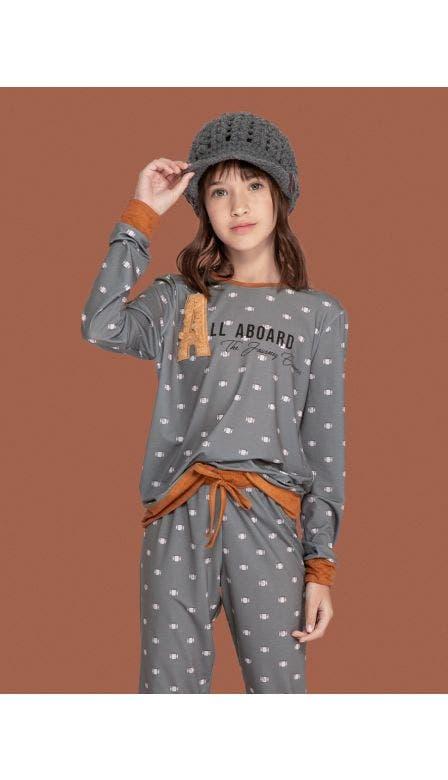 Pijama Feminino Kids All Aboard