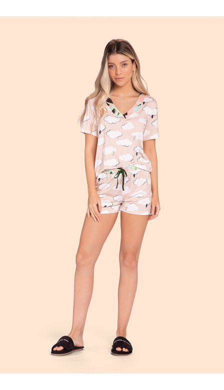 Pijama Short Over The Clouds