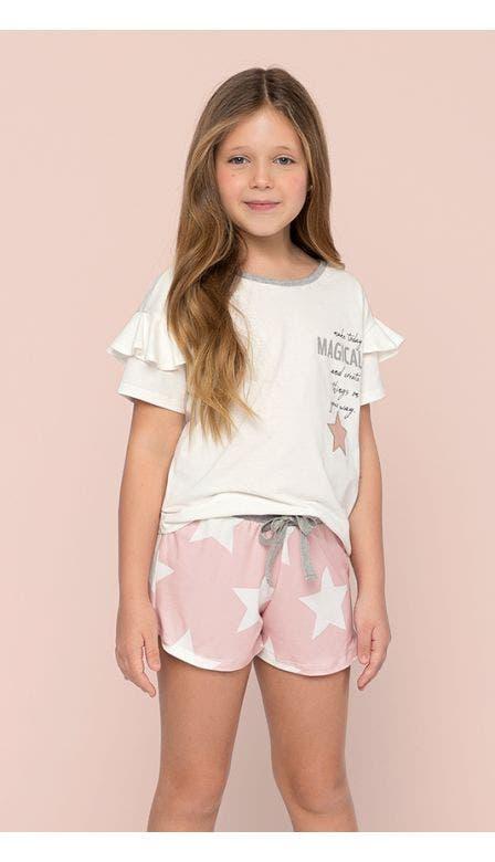 Pijama Curto Kids Pó De Estrela