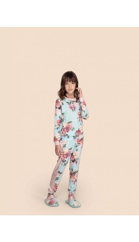 Pijama All Print Kids Roses For You