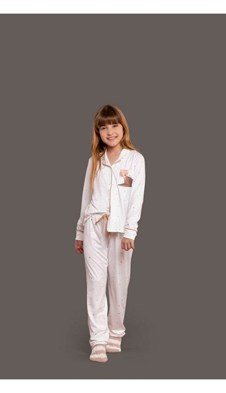 Pijama Aberto Infantil Lunar Friends