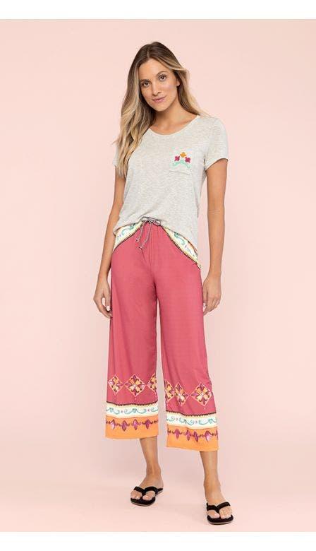 Pijama Pantacourt Azaléia