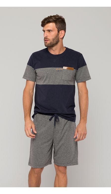 Pijama Curto Masculino 24 Horas