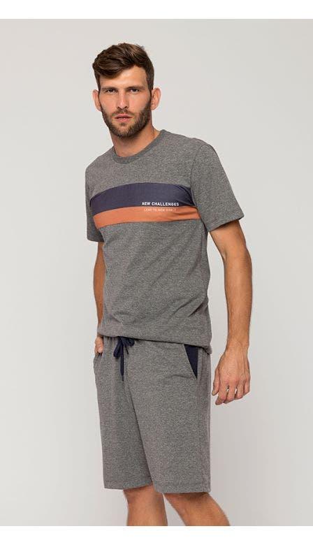 Pijama Masculino Mescla Vigia Das Marés