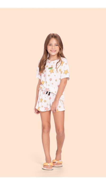 Pijama Curto Infantl Into The Stars