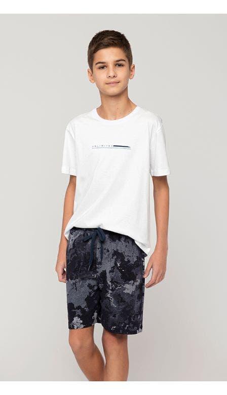 Pijama Curto Masculino Kids Atlântico